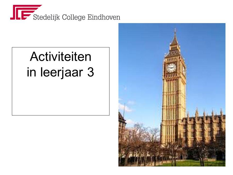 Activiteiten in leerjaar 3