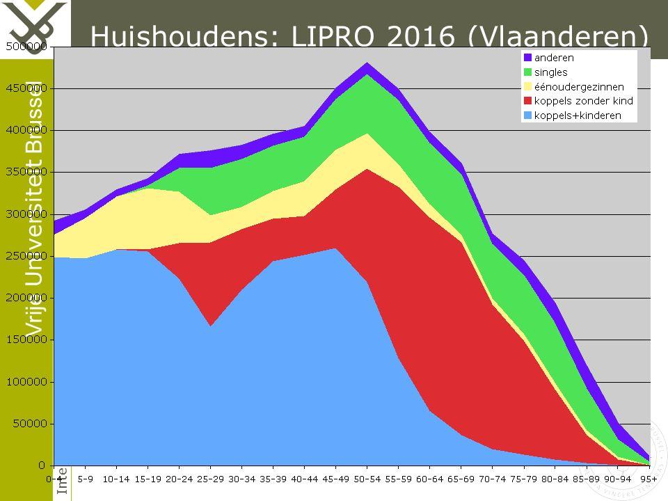 Vrije Universiteit Brussel Interface Demography Huishoudens: LIPRO 2016 (Vlaanderen)