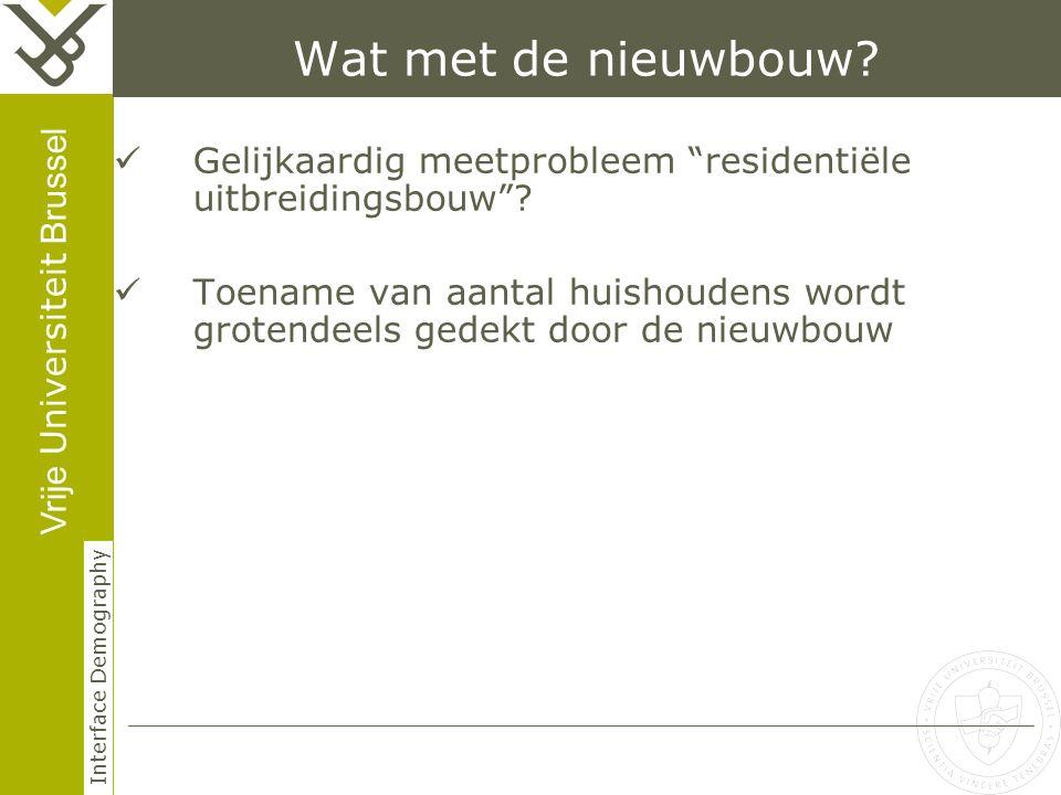 Vrije Universiteit Brussel Interface Demography Wat met de nieuwbouw.