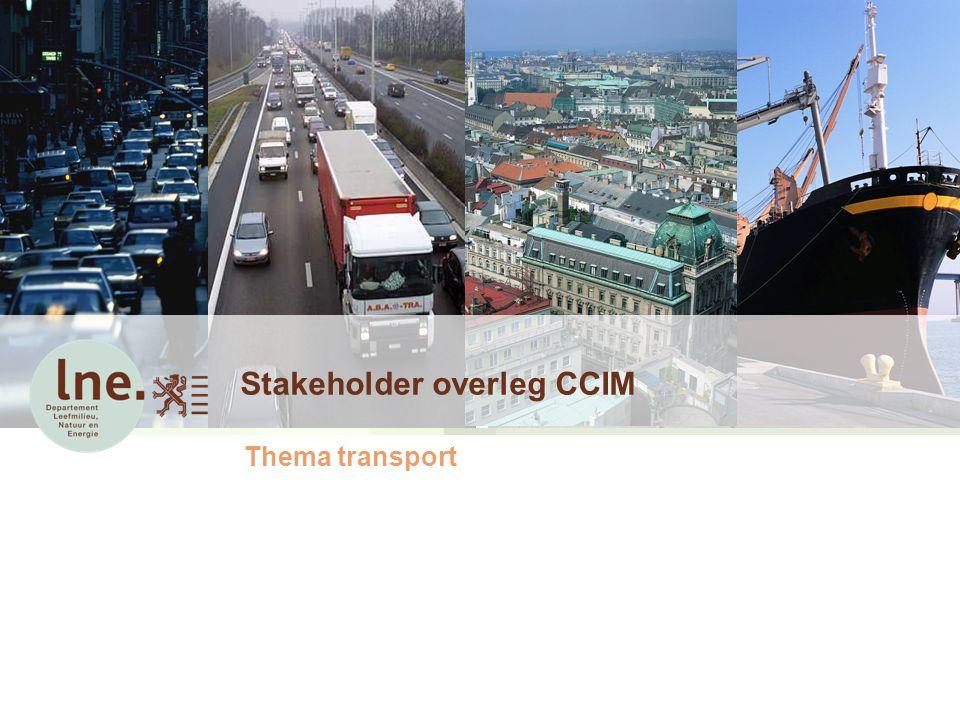 Stakeholder overleg CCIM Thema transport