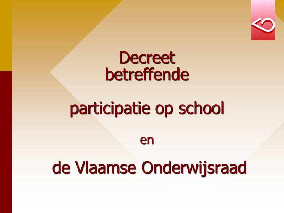 Decreet betreffende participatie op school en de Vlaamse Onderwijsraad