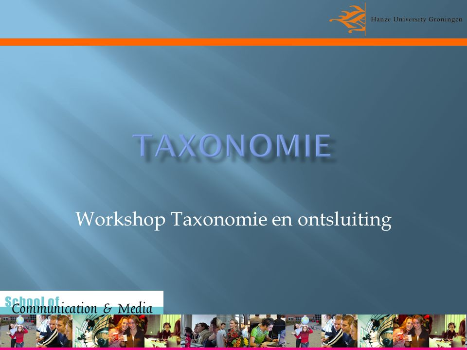 Workshop Taxonomie en ontsluiting