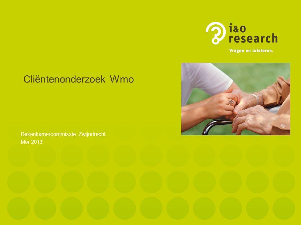 Cliëntenonderzoek Wmo 2 Colofon Uitgave : I&O Research BV Van Dedemstraat 6C 1624 NN Hoorn Tel.