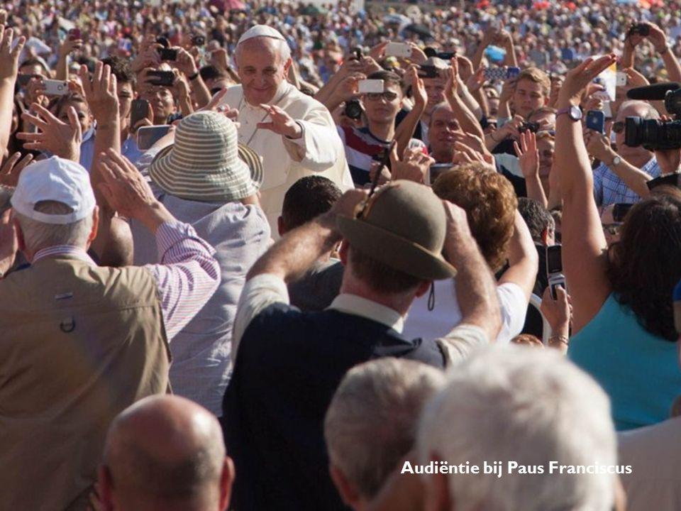 Audiëntie bij Paus Franciscus