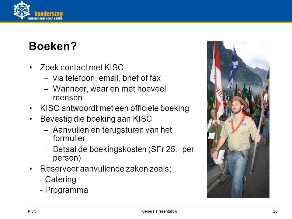 KISC General Presentation20 Boeken.