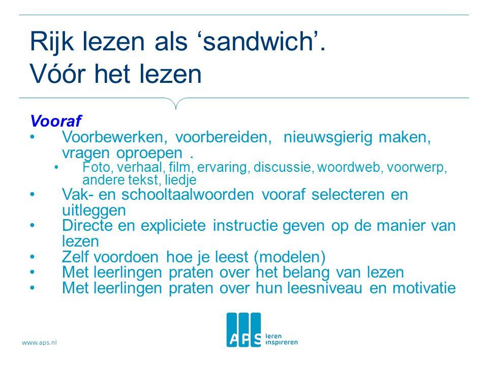 Rijk lezen als 'sandwich'.