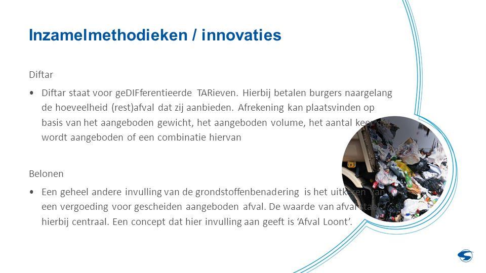 Inzamelmethodieken / innovaties Diftar Diftar staat voor geDIFferentieerde TARieven.