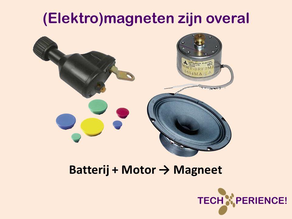 (Elektro)magneten zijn overal Batterij + Motor → Magneet
