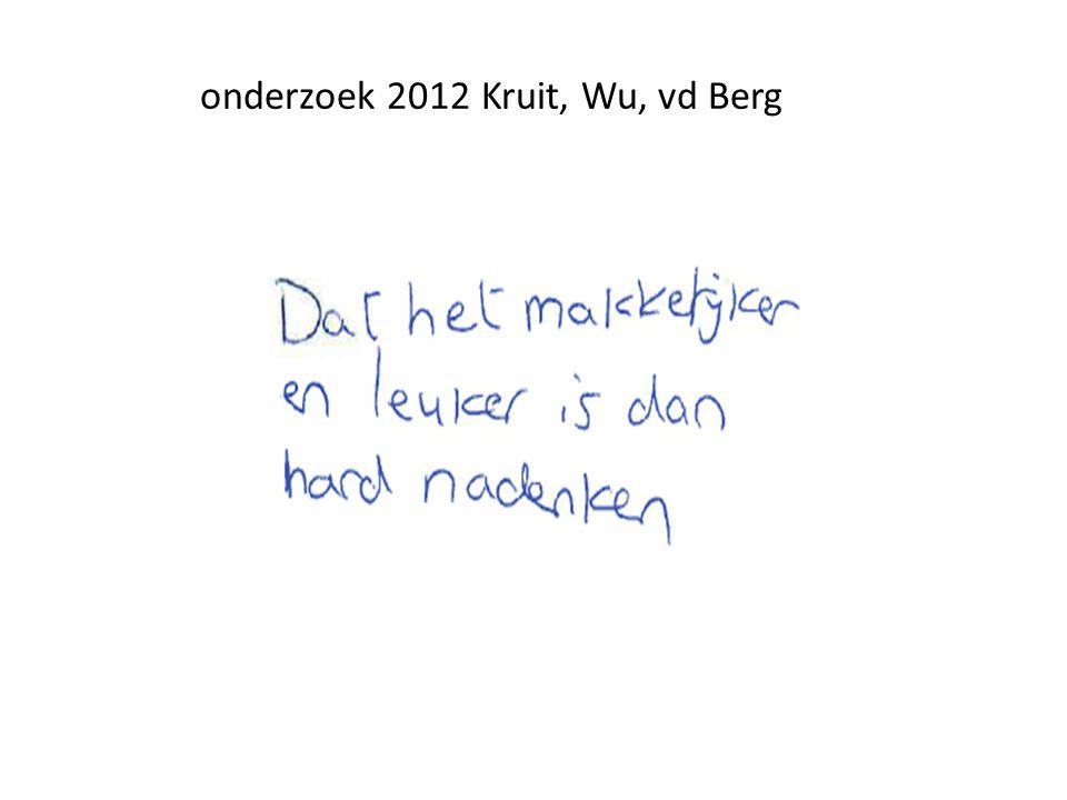 onderzoek 2012 Kruit, Wu, vd Berg