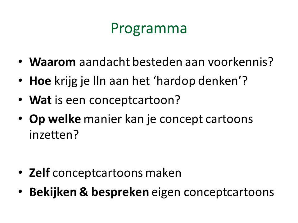 Programma Waarom aandacht besteden aan voorkennis.