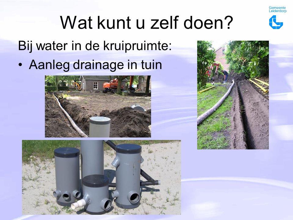 Wat kunt u zelf doen Bij water in de kruipruimte: Aanleg drainage in tuin