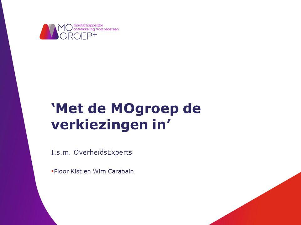 'Met de MOgroep de verkiezingen in' I.s.m. OverheidsExperts  Floor Kist en Wim Carabain