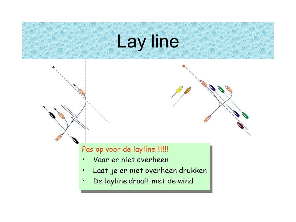 Lay line Pas op voor de layline !!!!!.