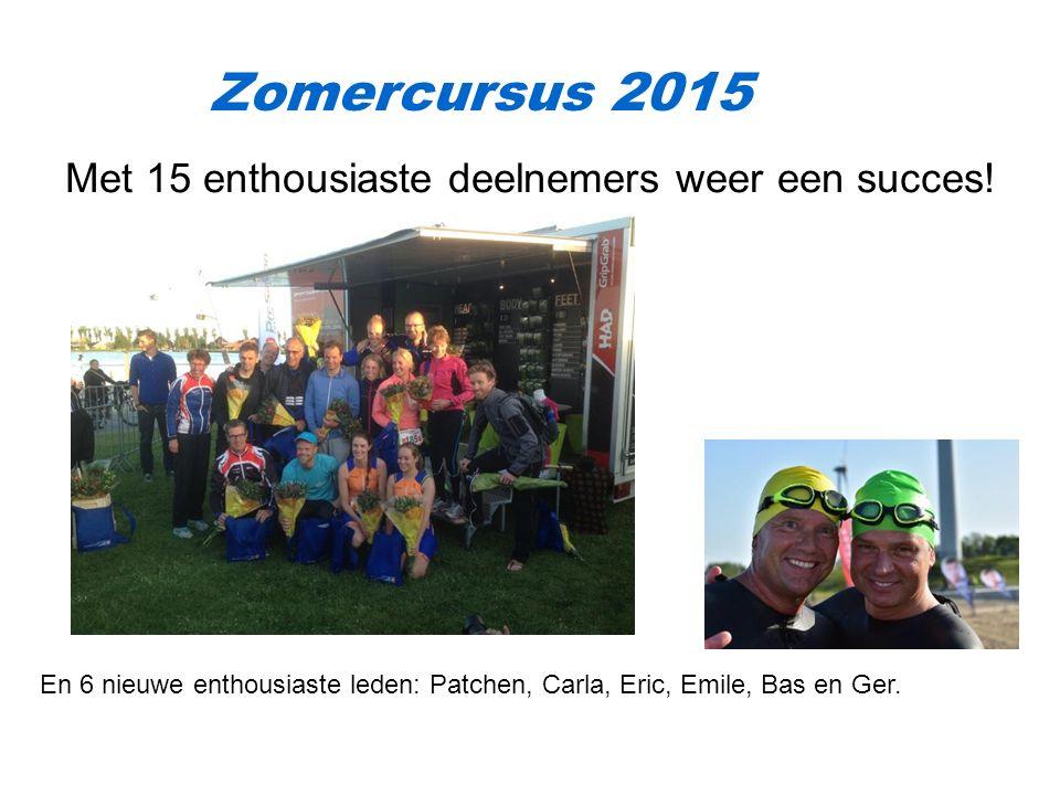 Zomercursus 2015 Met 15 enthousiaste deelnemers weer een succes.