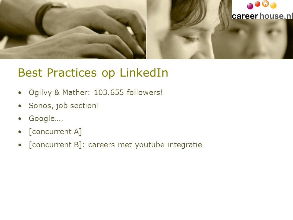 Best Practices op LinkedIn Ogilvy & Mather: 103.655 followers.