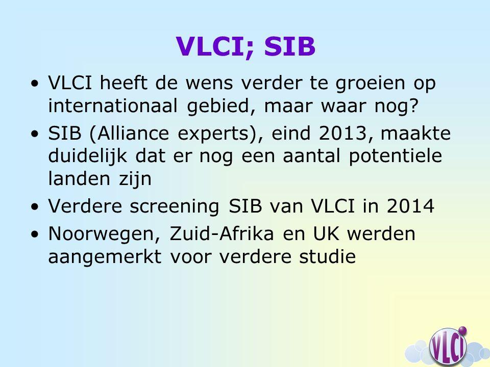 VLCI; SIB VLCI heeft de wens verder te groeien op internationaal gebied, maar waar nog.