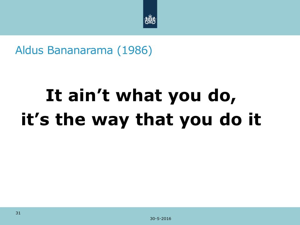 Aldus Bananarama (1986) It ain't what you do, it's the way that you do it 30-5-2016 31