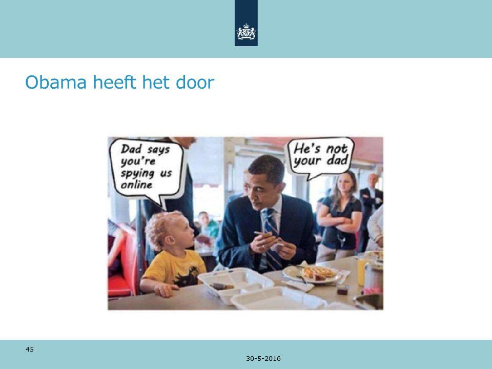 Obama heeft het door 30-5-2016 45