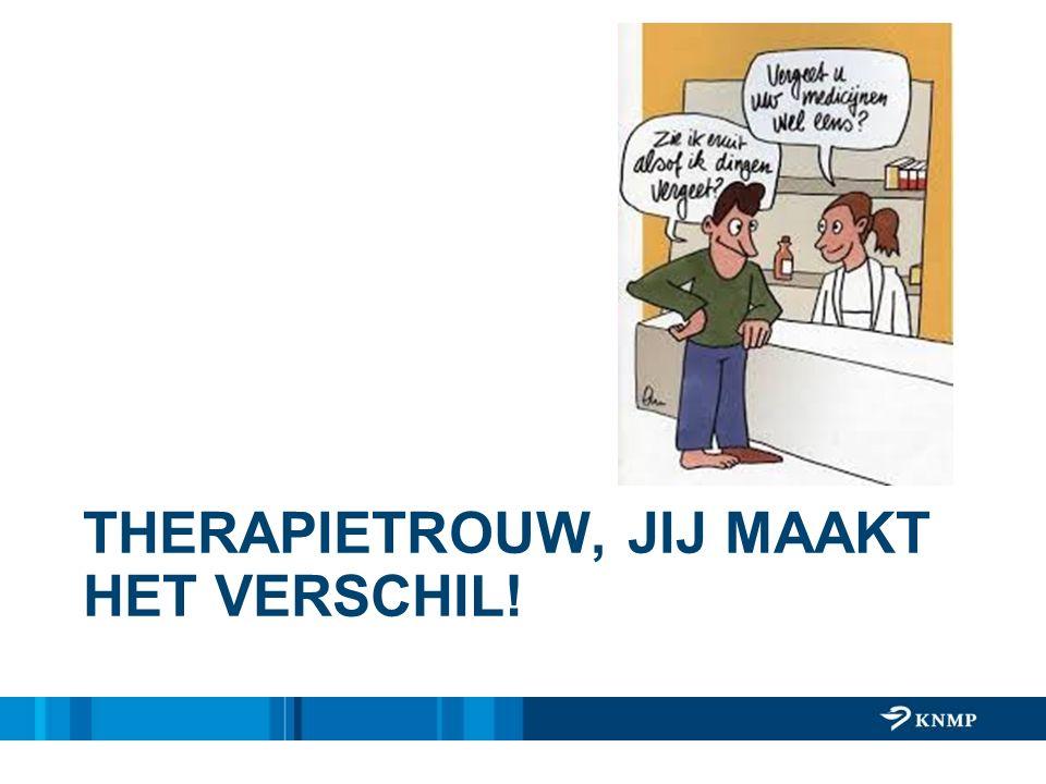 THERAPIETROUW, JIJ MAAKT HET VERSCHIL!