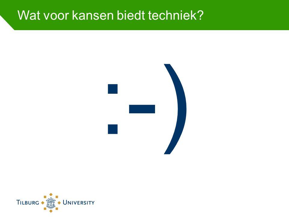 Wat voor kansen biedt techniek? :-)