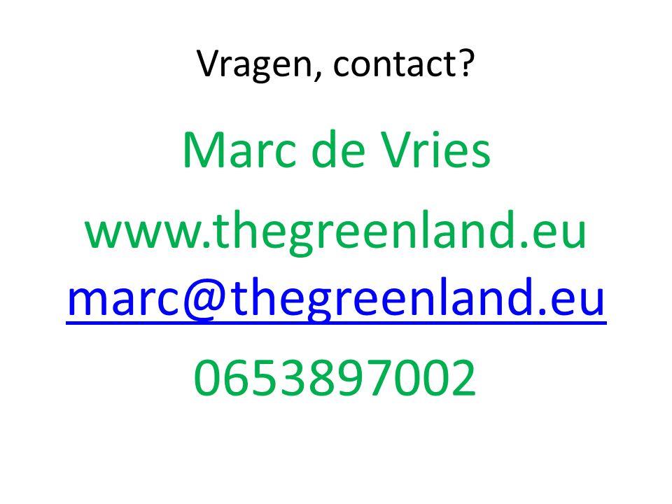 Vragen, contact.