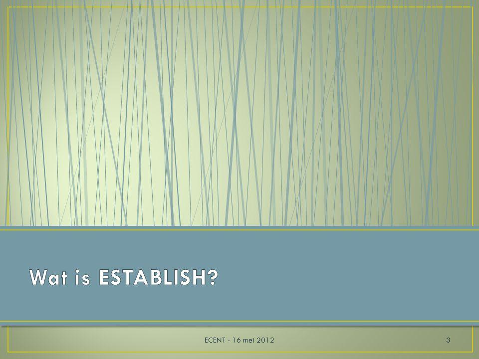 Problemen vaststellen Kritisch zijn Alternatieven onderscheiden Onderzoek plannen Onderzoeken van vermoedens Zoeken naar informatie Debatteren met leeftijdgenoten Coherente argumenten opstellen ECENT - 16 mei 201214