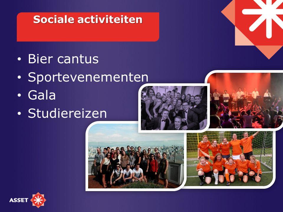 Bier cantus Sportevenementen Gala Studiereizen Sociale activiteiten