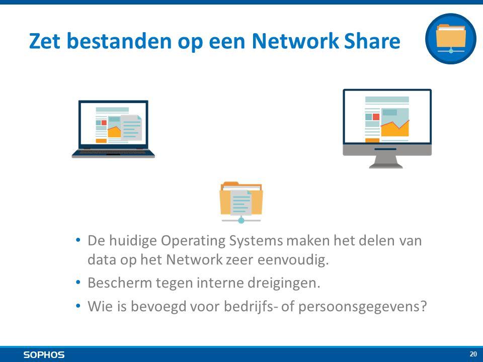 20 Zet bestanden op een Network Share De huidige Operating Systems maken het delen van data op het Network zeer eenvoudig.