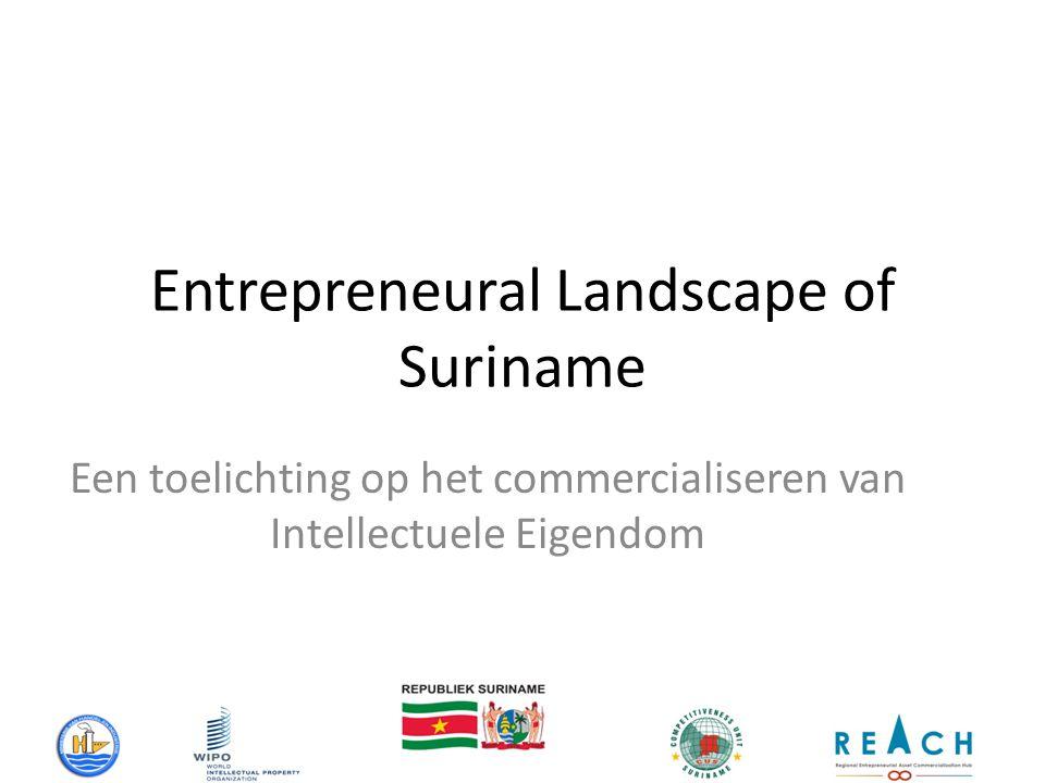 Entrepreneural Landscape of Suriname Een toelichting op het commercialiseren van Intellectuele Eigendom