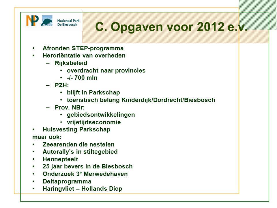 C. Opgaven voor 2012 e.v.