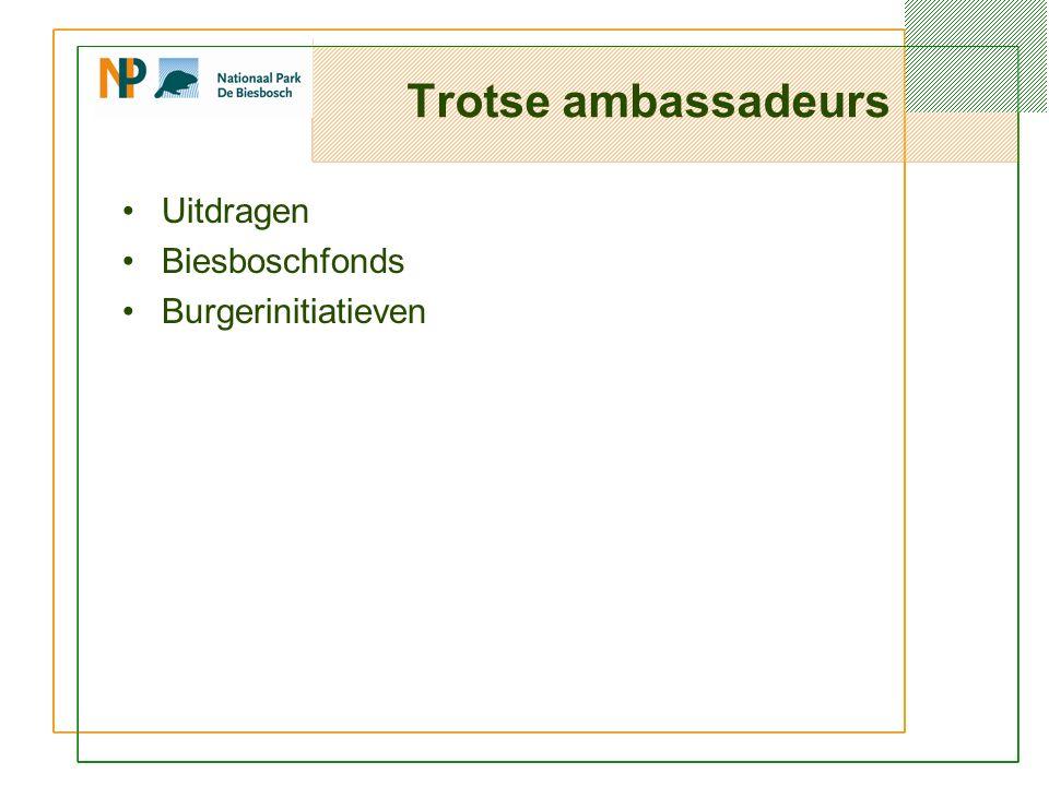 Trotse ambassadeurs Uitdragen Biesboschfonds Burgerinitiatieven