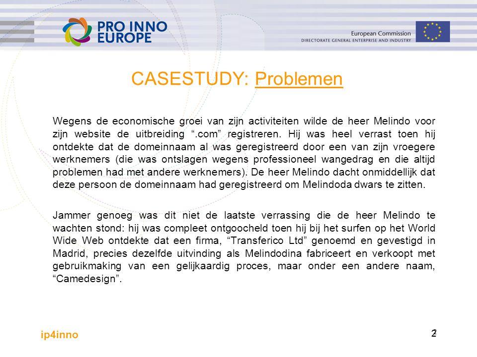 ip4inno 3 CASESTUDY: VRAGEN 1 Welke IE-rechten zijn bij deze zaak betrokken.