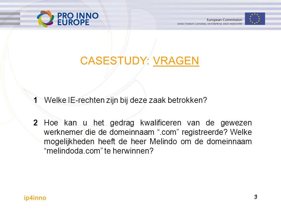 ip4inno 4 1 Welke IE-rechten zijn bij deze zaak betrokken.