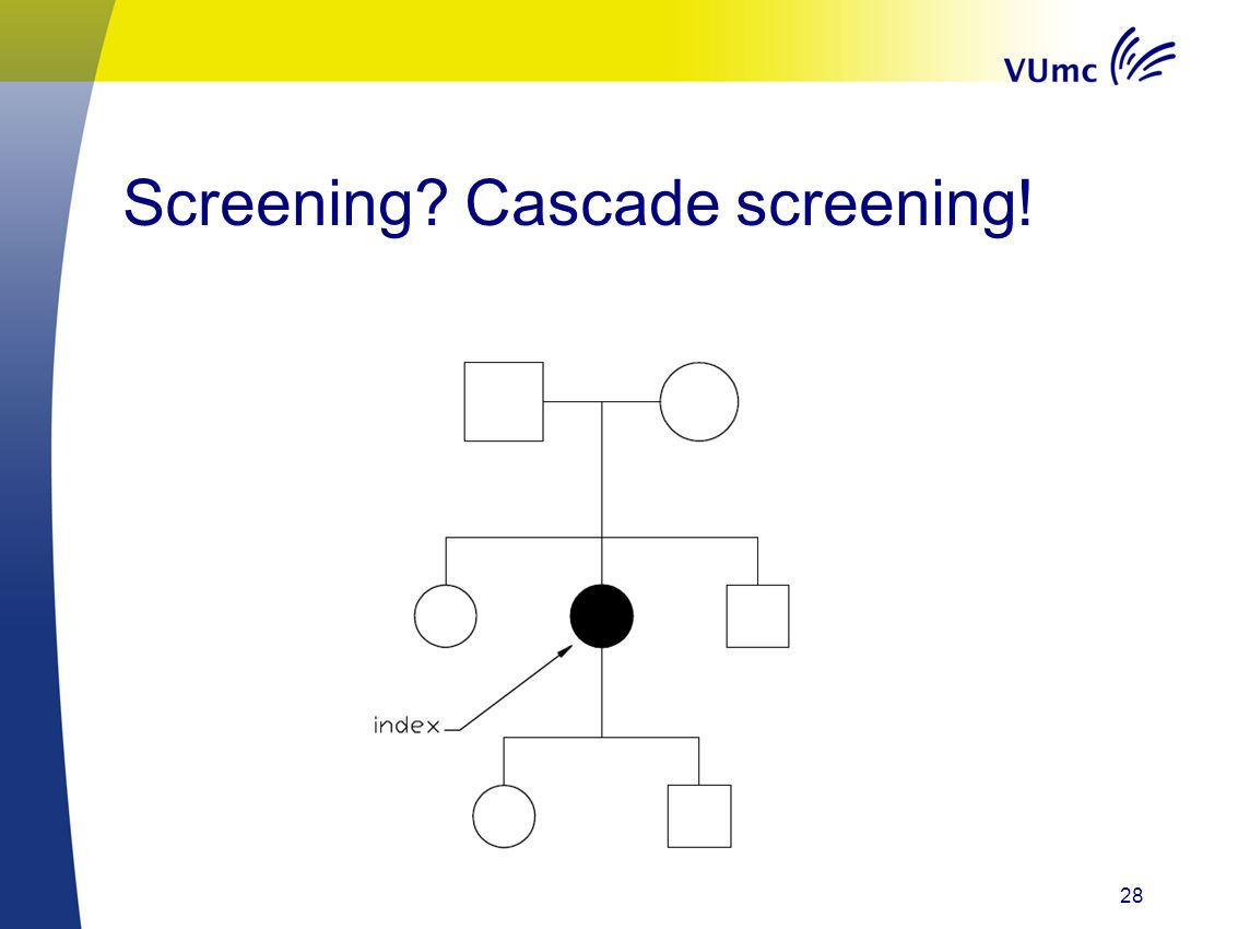 Screening Cascade screening! 28