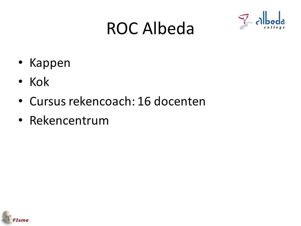 ROC Albeda Kappen Kok Cursus rekencoach: 16 docenten Rekencentrum
