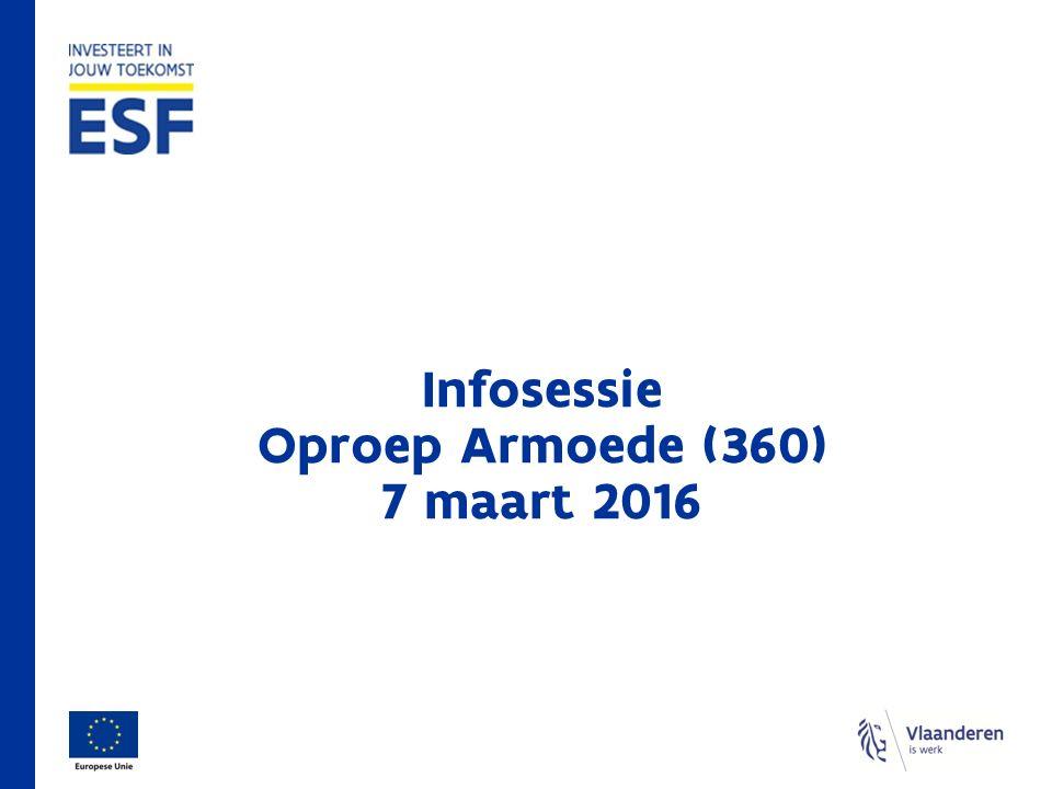 Infosessie Oproep Armoede (360) 7 maart 2016