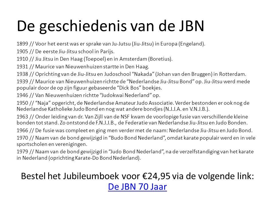 De geschiedenis van de JBN 1899 // Voor het eerst was er sprake van Ju-Jutsu (Jiu-Jitsu) in Europa (Engeland).