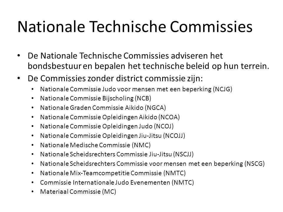 Nationale Technische Commissies De Nationale Technische Commissies adviseren het bondsbestuur en bepalen het technische beleid op hun terrein.