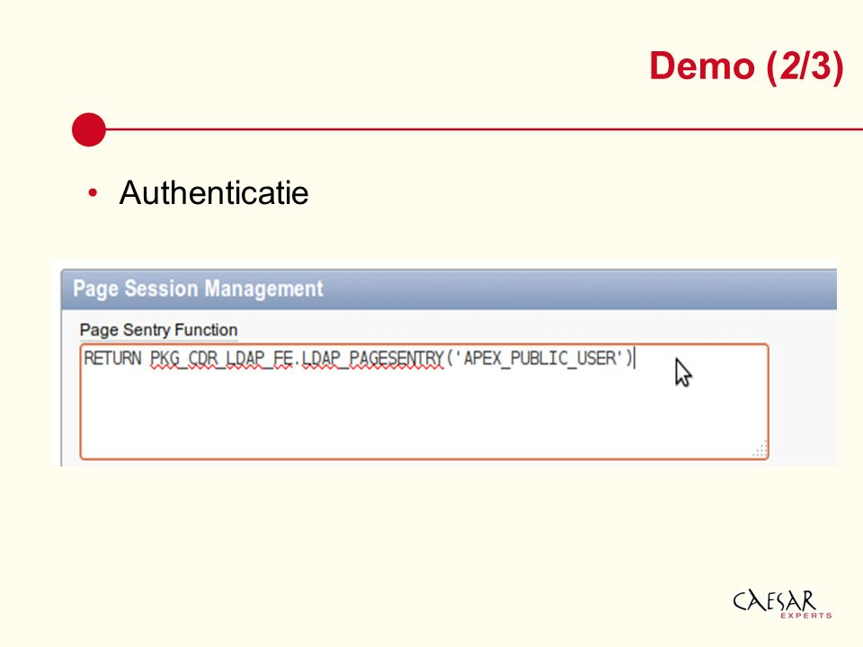 Authenticatie Demo (2/3)