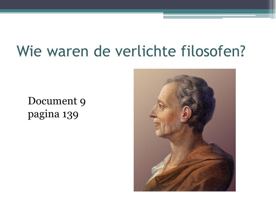 Wie waren de verlichte filosofen? Document 9 pagina 139