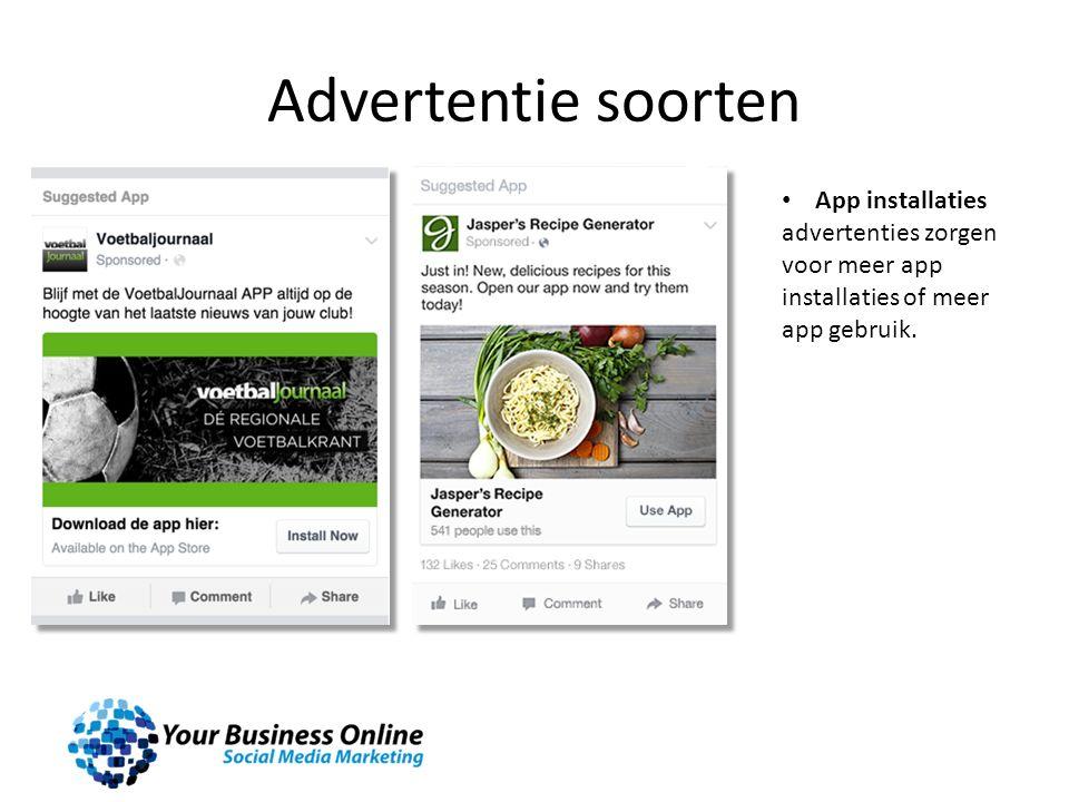 Advertentie soorten App installaties advertenties zorgen voor meer app installaties of meer app gebruik.