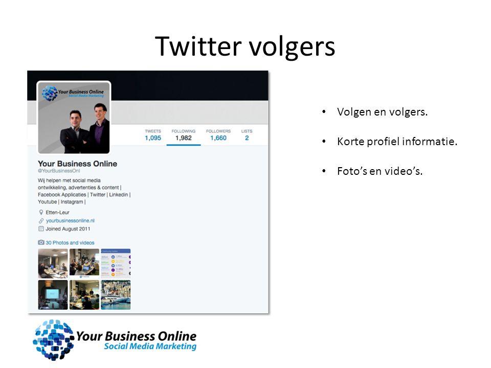 Twitter volgers Volgen en volgers. Korte profiel informatie. Foto's en video's.