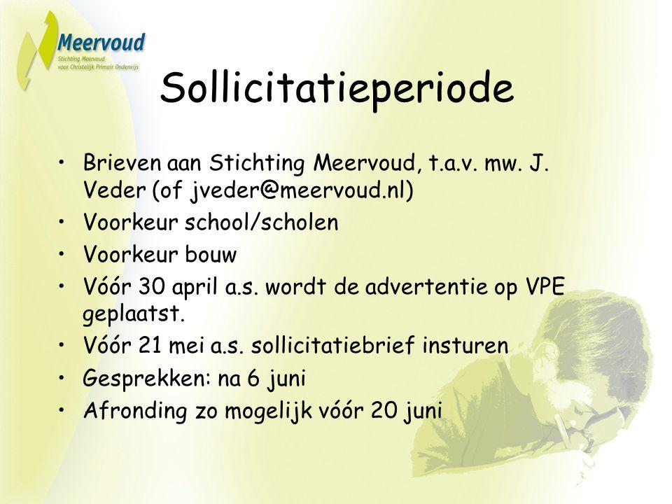 Sollicitatieperiode Brieven aan Stichting Meervoud, t.a.v.