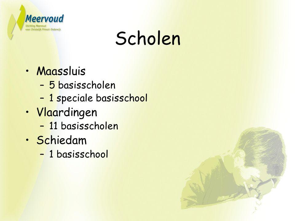 Scholen Maassluis –5 basisscholen –1 speciale basisschool Vlaardingen –11 basisscholen Schiedam –1 basisschool