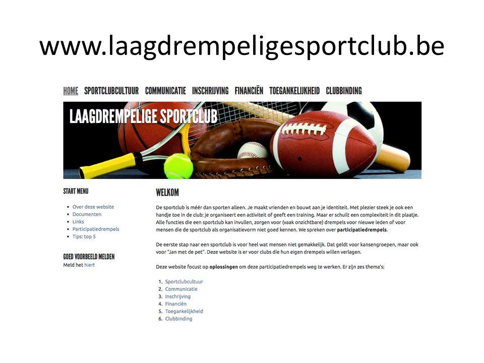 www.laagdrempeligesportclub.be
