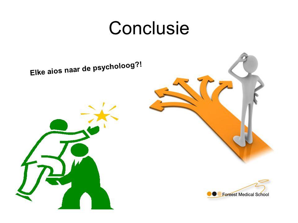 Conclusie Elke aios naar de psycholoog !