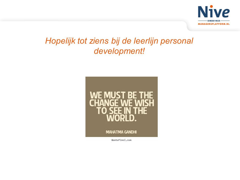 Hopelijk tot ziens bij de leerlijn personal development!