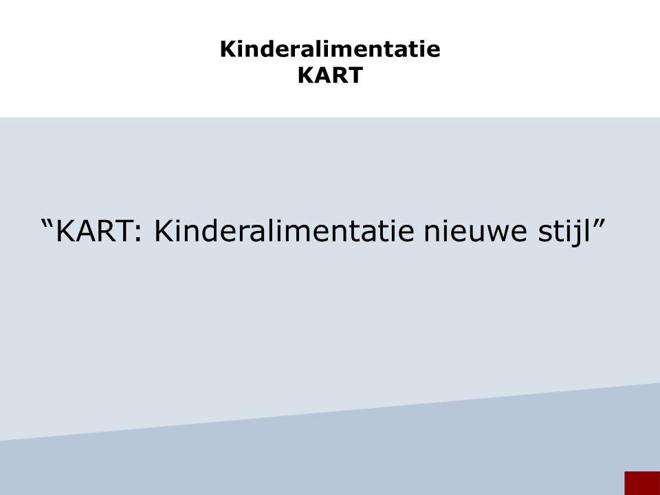 Kinderalimentatie KART KART: Kinderalimentatie nieuwe stijl