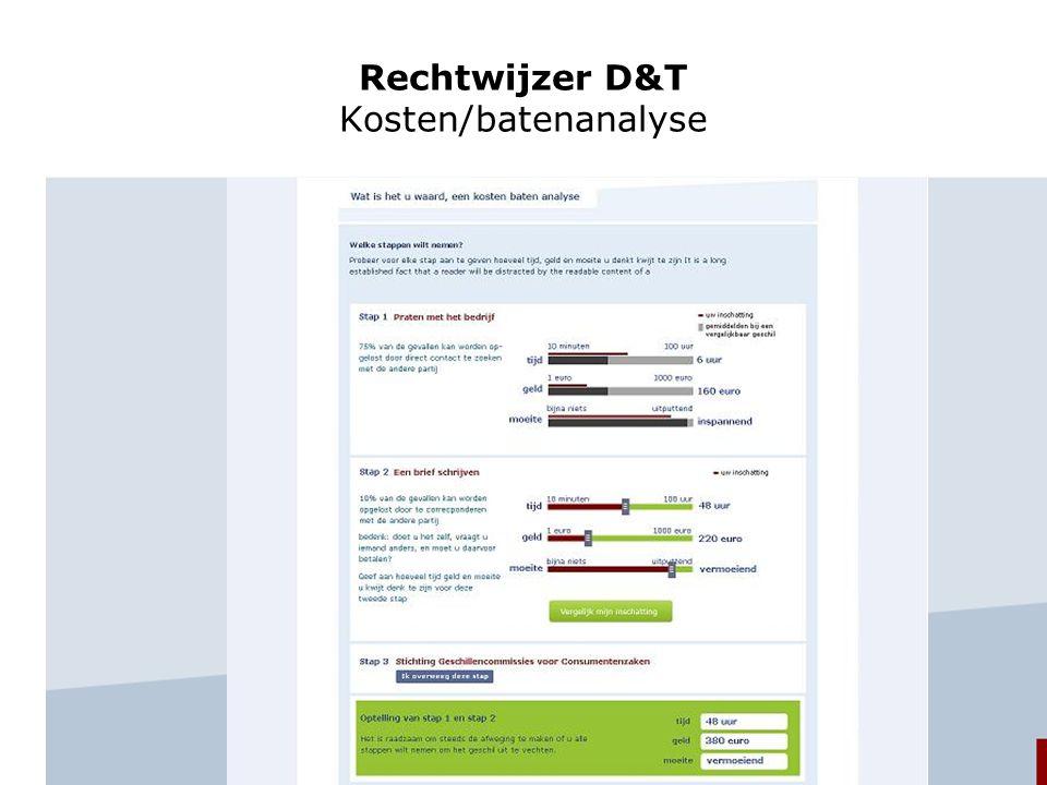 Rechtwijzer D&T Kosten/batenanalyse