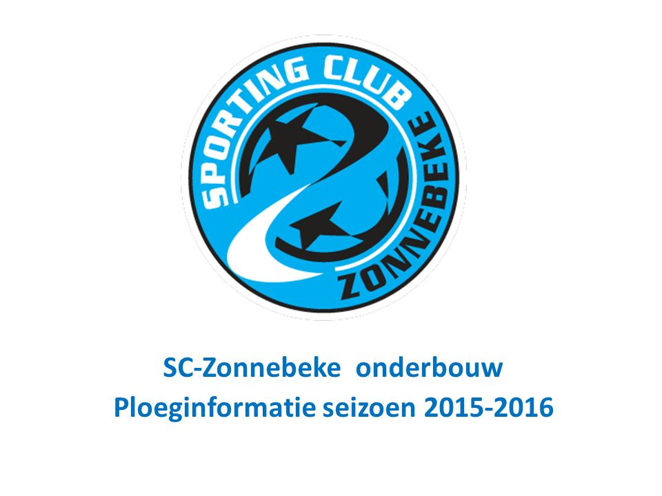 SC-Zonnebeke onderbouw Ploeginformatie seizoen 2015-2016